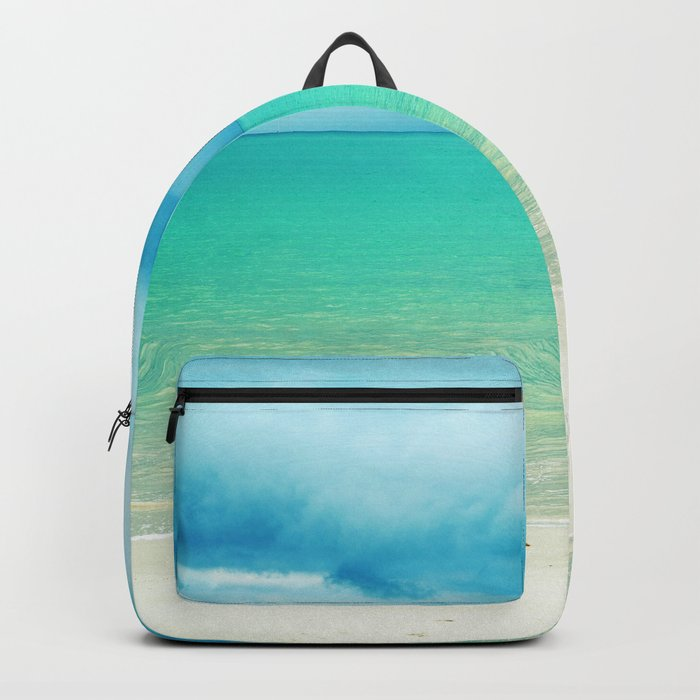 Blue Turquoise Tropical Sandy Beach Backpack