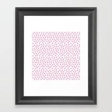 Dots Pink Framed Art Print