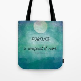 Inspirational ocean sea Emily Dickinson quote Tote Bag