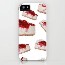 Strawberries cake iPhone Case