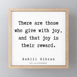 76      Kahlil Gibran Quotes   190701 Framed Mini Art Print