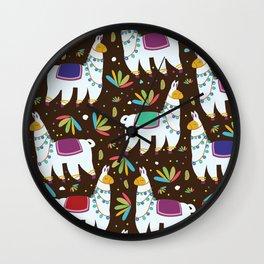 Llama Wall Clock