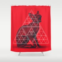 sphynx Shower Curtains featuring Sacred Sphynx by Dr.Söd