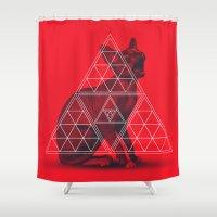 sphynx Shower Curtains featuring Sacred Sphynx by Dr.Söd