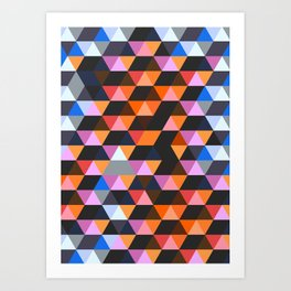 Funky Geometric Art Print