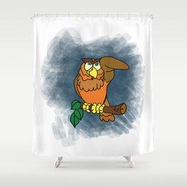 Awaken Owl Shower Curtain