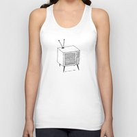 tv Tank Tops featuring TV by Addison Karl