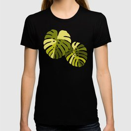 Monstera Leaves in Green T-shirt