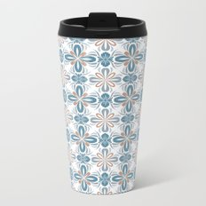Damask pattern design Metal Travel Mug