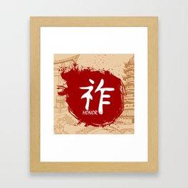 Japanese kanji - Honor Framed Art Print
