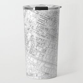 Abstract Map of New York City Manhattan Lower East Side Travel Mug
