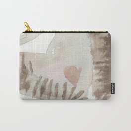 Erotic watercolor of Rain Carry-All Pouch