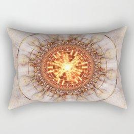 Aztec Medailon - Abstract Fractal Artwork Rectangular Pillow