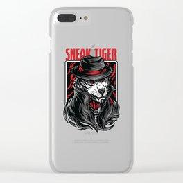 Sneak Tiger Clear iPhone Case