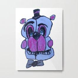 Funtime Freddy in crayon - FNAF Metal Print