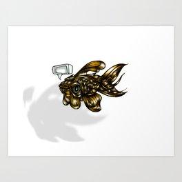 Thoughtless Goldfish Art Print