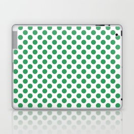 Kelly Green Small Polka Dots Laptop & iPad Skin