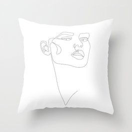 Dainty Lady Throw Pillow
