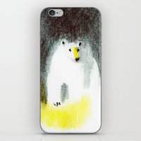 polar bear iPhone & iPod Skins featuring Polar Bear by Linette No