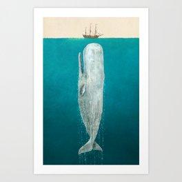 The Whale - Full Length - Option Art Print