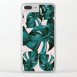 Monstera Leaves Pattern #4 #tropical #decor #art #society6 Clear iPhone Case