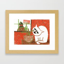 Bad Kit Framed Art Print