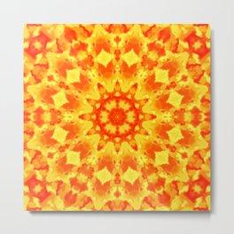 Fire Kaleidoscope 3 Metal Print