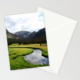 Watercolor Landscape, East Inlet Trail 02, Colorado Stationery Cards