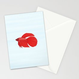betta splendens red male Stationery Cards
