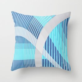 Resonance (blue-aqua) Throw Pillow