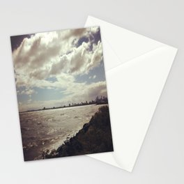 City/Sea scape. Stationery Cards