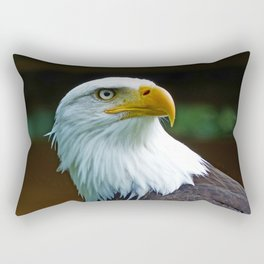 American Bald Eagle Head Rectangular Pillow