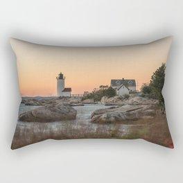 Autumn Lighthouse at sunset Rectangular Pillow