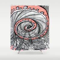 portal Shower Curtains featuring Portal by Gina Miranda Art