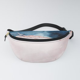 storm whipped sea I Fanny Pack