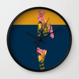 Back to Nature (Retro Floral) Wall Clock