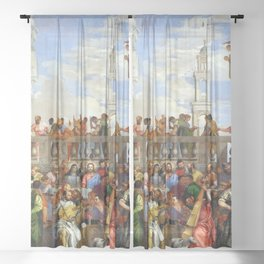 "Veronese (Paolo Caliari) ""The Wedding at Cana"" Sheer Curtain"
