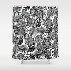 chrysanthemica Shower Curtain