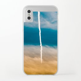 Contrail Sunset Clear iPhone Case