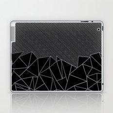 Ab Lines 45 Grey and Black Laptop & iPad Skin