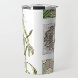 Aster Alpinus Flower Botanical Ornamental artwork Travel Mug