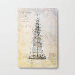 Burj Khalifa, Dubai Metal Print