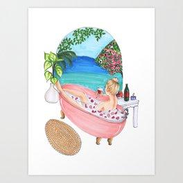 bath time , fashion illustration Art Print