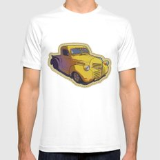 Dodge pickup truck Mens Fitted Tee White MEDIUM