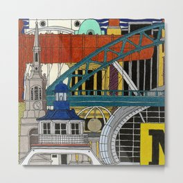 NEWCASTLE & GATESHEAD Metal Print