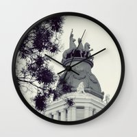 real madrid Wall Clocks featuring Madrid by Valkyries