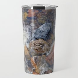 River rocks and rushing water Travel Mug