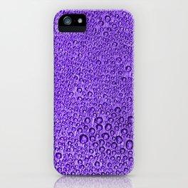 Water Condensation 05 Violet iPhone Case