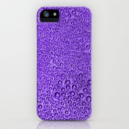 Water Condensation 05 Violet iPhone Case