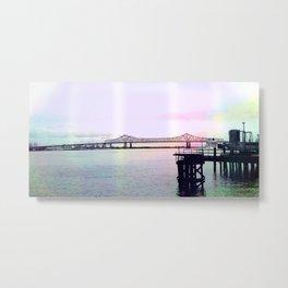 Crescent Connection Bridge with Dock Metal Print